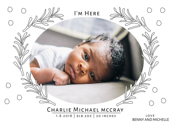 birth announcements - I'm Here by Amy MacCready
