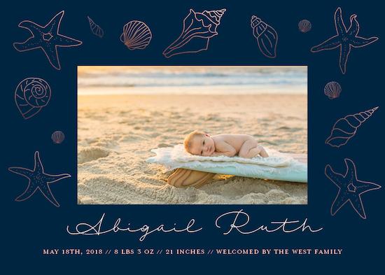 birth announcements - Sparkling Shells by Jacquelyn Kellar