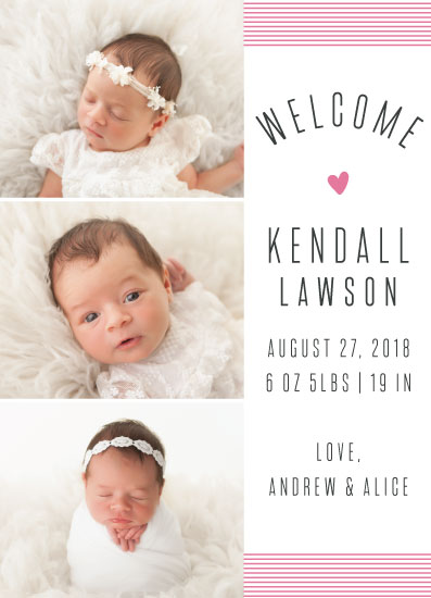 birth announcements - Little One Big Joy by High5ive Creative