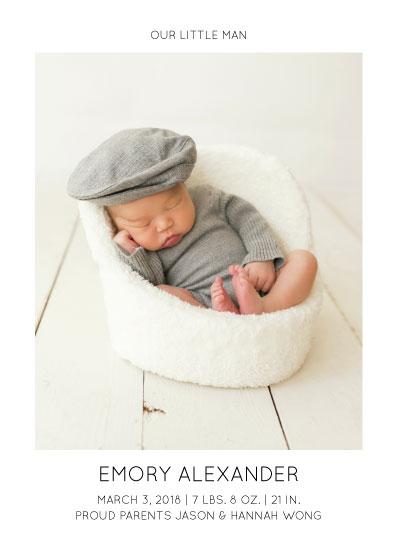 birth announcements - Modern Little Man by Sarah Cohn