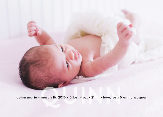 birth announcements - Big Name by Sarah Cohn