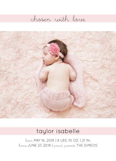 birth announcements - Chosen with Love by Sarah Cohn