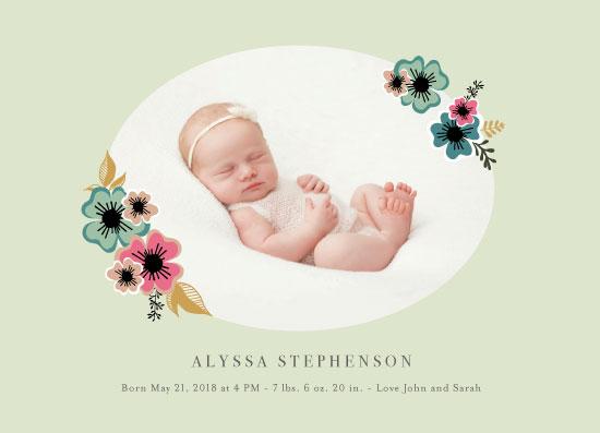 birth announcements - Hibiscus by Danielle Ellan