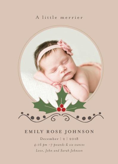 birth announcements - A little merrier by Danielle Ellan