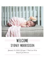 Simple & Sweet Welcome by Sabrina Corporron