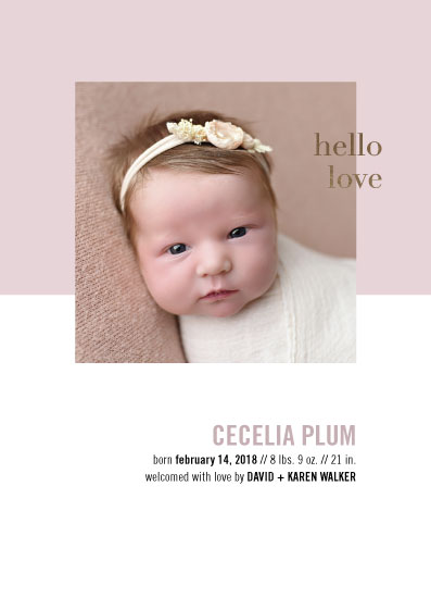 birth announcements - Hello Love Photo Card by Alexandra Cohn