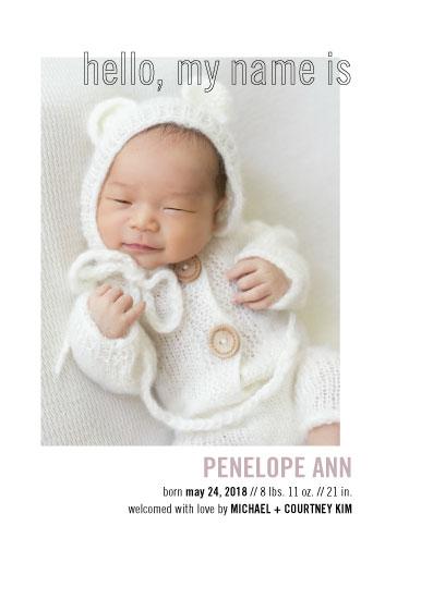 birth announcements - Modern Minimal by Alexandra Cohn