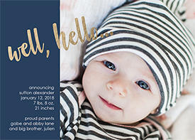 birth announcements - Well, hello... by Amy Stouffer