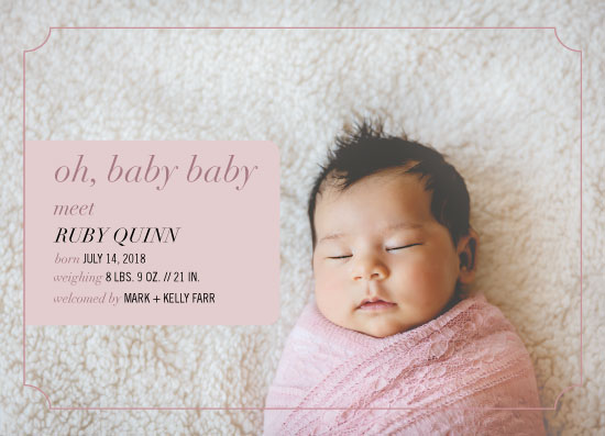 birth announcements - Oh, Baby Baby Photo Card by Alexandra Cohn