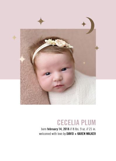 birth announcements - Stars + Moon by Alexandra Cohn
