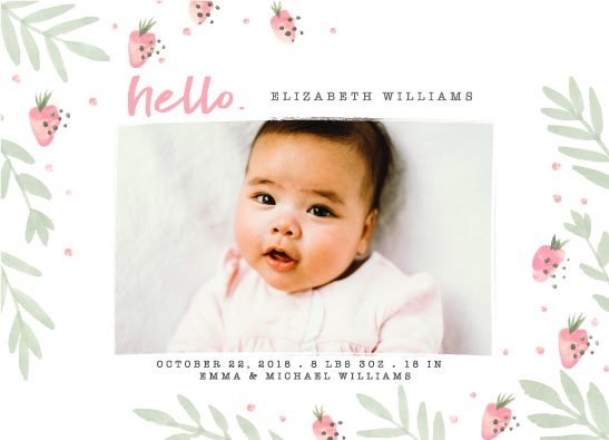 birth announcements - Hi, sweetie by Loren