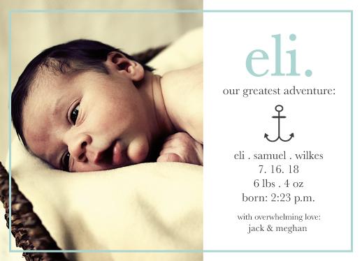 birth announcements - Anchor Adventure by Paper Etiquette