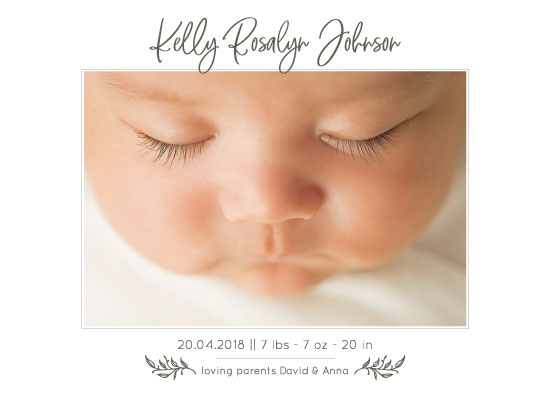 birth announcements - Beautiful Baby by Julia Khimich