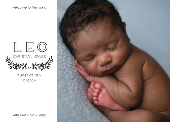 birth announcements - Welcome to the World Little Boy by Julia Khimich