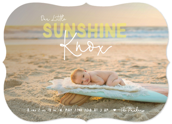 birth announcements - Our Little Sunshine by Maggie Maeve