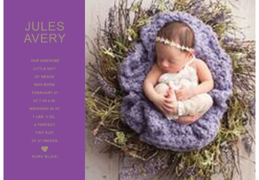 birth announcements - Gift of Grace by Sher Schier