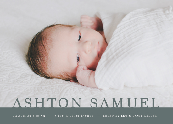 birth announcements - Steadfast by Ekko Studio