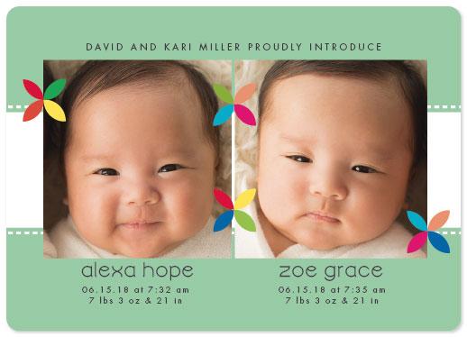 birth announcements - Twinkle Twins by Sarah Teske