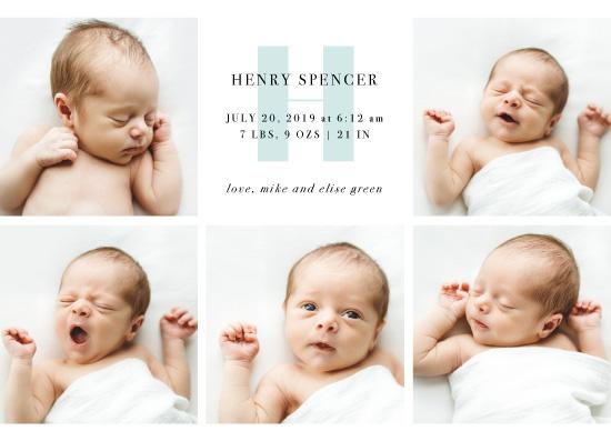birth announcements - Initial Block by Anna Elder