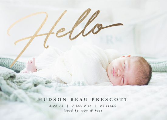 birth announcements - Welcoming Hello by Ekko Studio