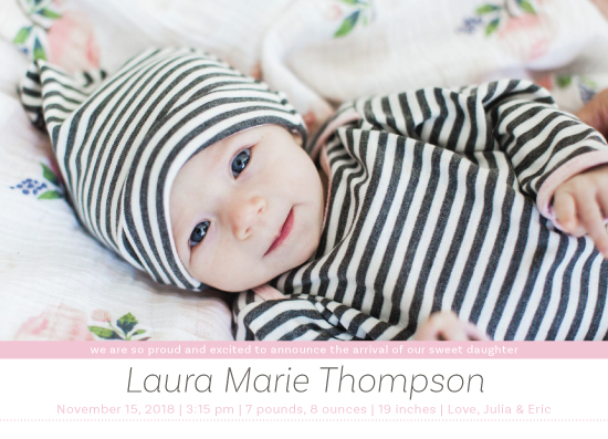 birth announcements - sweet baby announcement by Lili Niclass