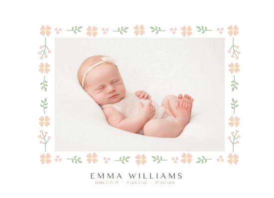birth announcements - Floral Frame by Maki Sato
