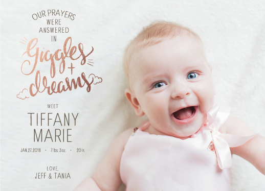 birth announcements - Giggles & Dreams by Tania Cenzano