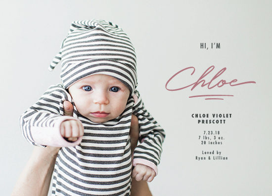 birth announcements - Quiet Introduction by Ekko Studio