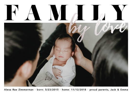 birth announcements - Family By Love by Katrine Guzman