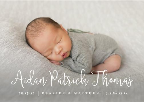 birth announcements - aidan by chocomocacino