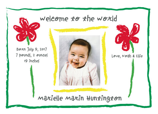 birth announcements - Crayon Welcome by Amy Solaro