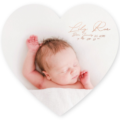 birth announcements - Lily 6 by Avila Arts