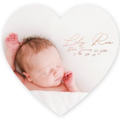 birth announcements - Lily 9 by Avila Arts