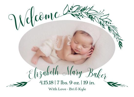 birth announcements - Elegant Laurels by Audra Candelaria