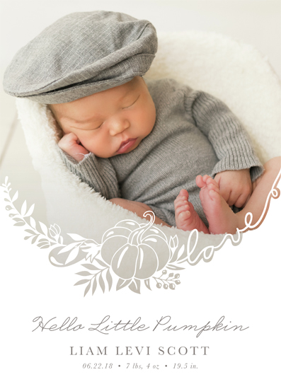 birth announcements - Welcome little pumpkin by My Splendid Summer