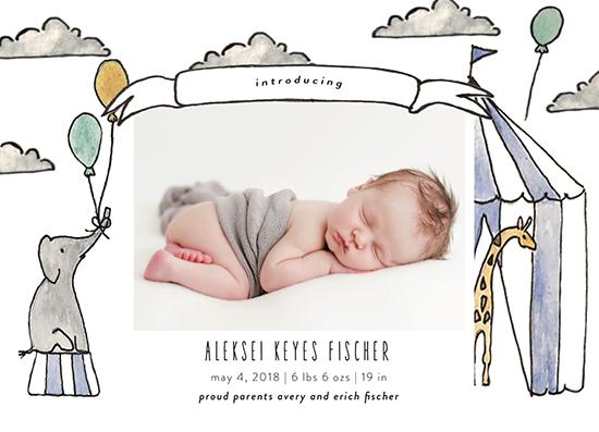 birth announcements - Big Top by Hallie Fischer