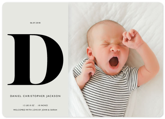 birth announcements - The Big Initial by itsjensworld