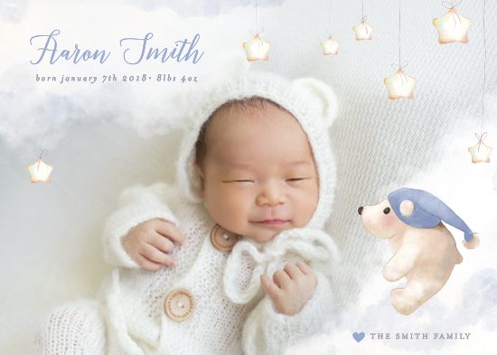 birth announcements - Twinkle Bear by Cassandra Imagines