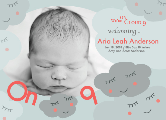 birth announcements - Cloud Nine by Vani Gupta