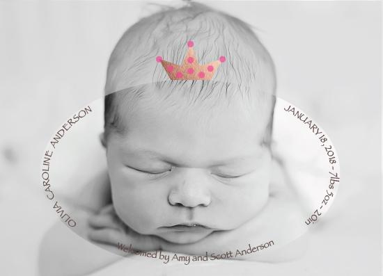 birth announcements - Polka-Dot Crown by Vani Gupta