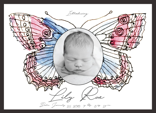 birth announcements - Butterfly by Avila Arts