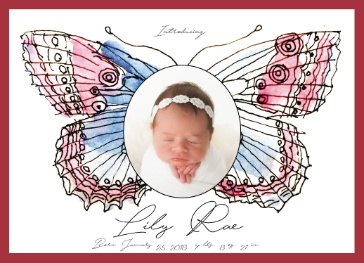birth announcements - Butterfly 2 by Avila Arts