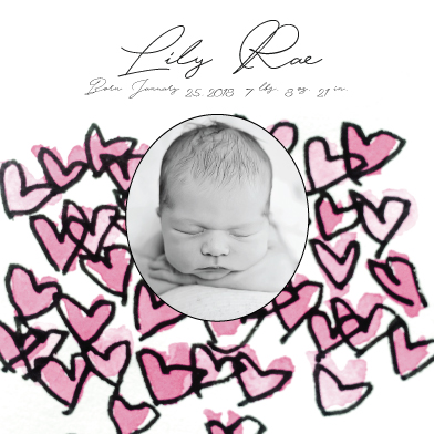 birth announcements - Lily 10 by Avila Arts