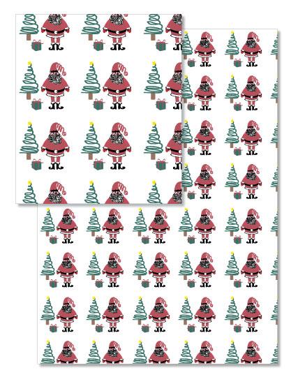- Jolly Santa wrapping paper by Jennifer Warren