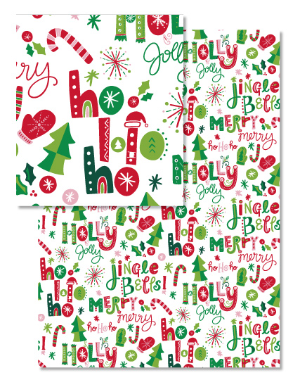 - Festive Christmas Words by Noonday Design