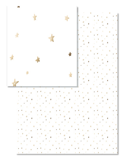 - Gold Foil Star Tissue Paper by Clare King