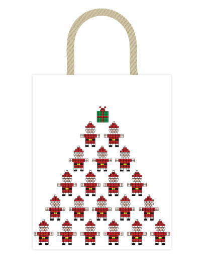- Blocky Santa by Nadia Irianto