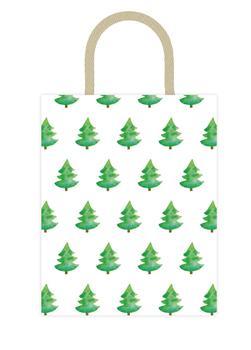 Watercolor Green Tree Bag