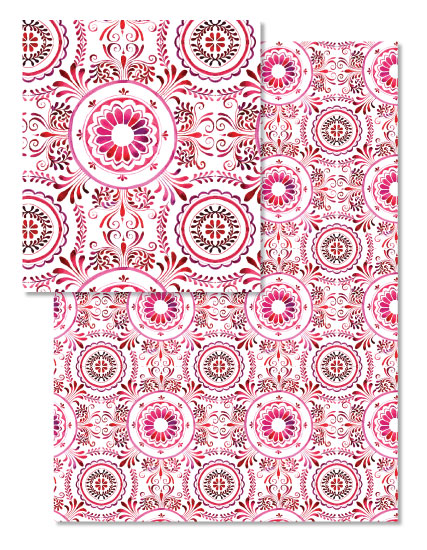 - elegant red scrolls by Akiyo Ogura