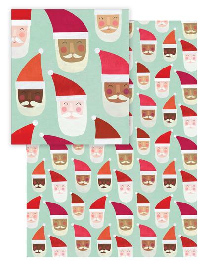 - Multi-Cultural Santas by melanie mikecz